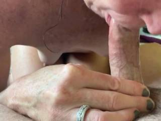 Wife makes me cum in her mouth and then spits my load out for your viewing pleasure.