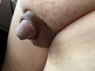 Just sitting here naked on a lazy Friday afternoon and my cute little cock is taking a rest. Doesn\'t he look so small and cute? What do you think?