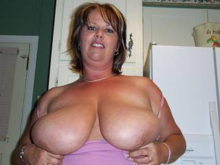My amazing wife loves showing off her big milk jugs for anyone  Want more just ask me