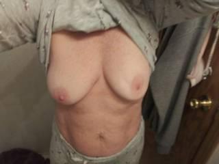 Tits flashing