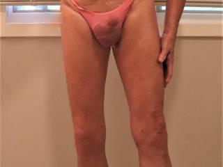 Love wearing my pink panties.
