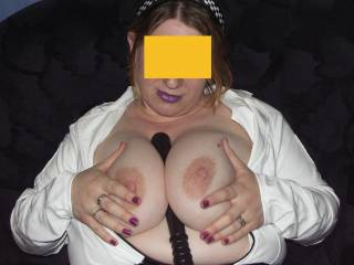 Wish that was my cock between your big tits.