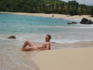 Have to hike to this beach but being nude on the beach is great when clothed are there also.