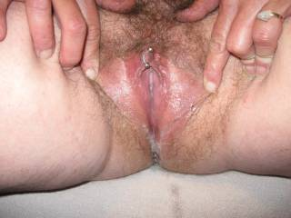 Cumming and squirting for a friend's pic