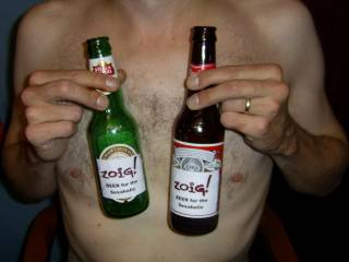 had to put a couple beer bottles in his hands to keep them away from my tits ..lol