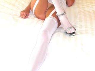 Amazing gams! I don't known which part I like best...sweet little mound, pert titties, legs, steel buns, on and on. Thank you, thank you, and more thank you.