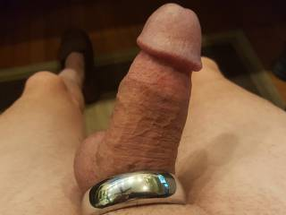 I get hard when I wear my steel cock ring