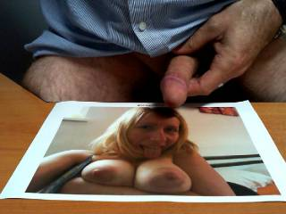 Tribute for @Gloritsy, Hot titties and cute face, the result was always obvious! x