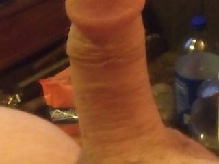 My half hard cock