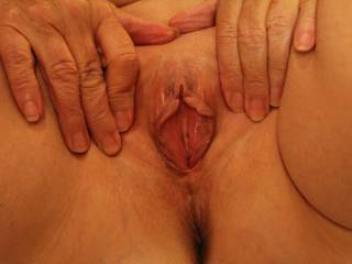 my wifes amazing 71 year old pussy