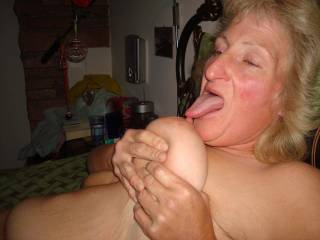 Please allow me to SUCK on your NIPPLE with you...  Love and Kisses, Maryann
