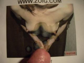 cumming on friend tits,love those hard nips!!