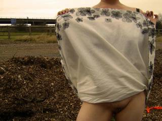 Look its that windy ...its blowm me knickers off ..lol. So who's gonna warm me up now?