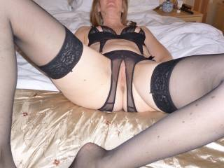 taking it easy in my little outfit before my husband gives me a good hard fucking