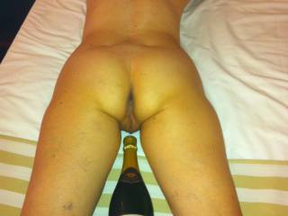 wish this was your cock instead of the bottle. Wanting well hung guys 7+ inches