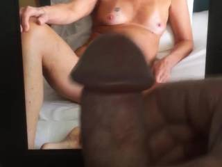 Showing my friend how I cum for her.