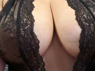 Curious to know what y'all think about my tits in this outfit? Dirty comments make my pussy wet. Talk dirty to me and I might just show you how wet I get