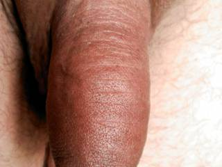 Thick soft cock hanging