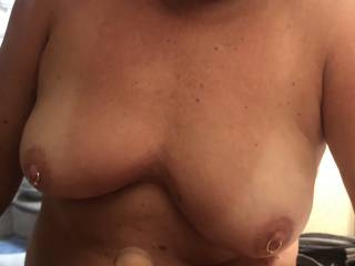 Another view of what I get to look at when she's sucking my cock.