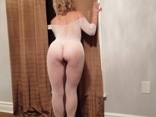 Waiting for you guys by the window to come join us in the bedroom.. Are you cumming?