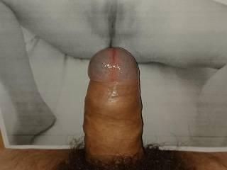 Pussy fucked from Benn steelhard on the monitor