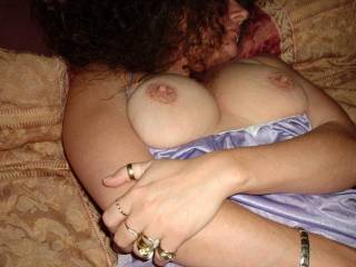 Those nipples are just begging to be kissed, sucked and nibbled on....