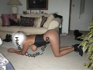 Slut Wife On knees