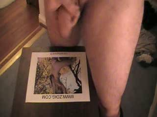 """What a huge load of cum you shot on me! I got very hot watching you stroke your cock from """"hanging"""" ...watching it grow big and long with excitement...hot sexy surprise!"""