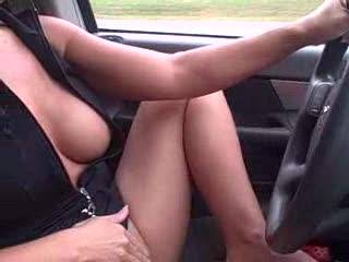 I'd love to be your passenger and lean over and lick your pussy and suck you lkabia and clit anf finger you some.  I love watching msturbation.