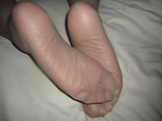 My sexy nylon feet