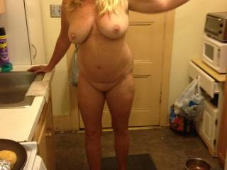 What a fantastic body you have!  Very pretty face and smile, luscious large tits, and a great figure.  All a man could ever ask for.