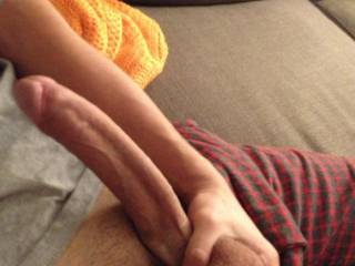 God want to watch my wife take that big sexy cock please !..