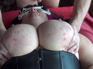 Giving my canadian friend a nice breast massage