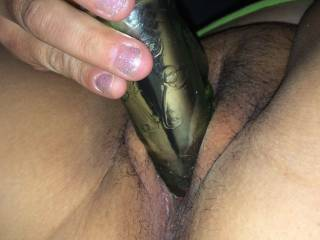 My girl loves her toys and when I'm. Away at work she always sends me pics of that hot pussy would you help her with her task at hand?
