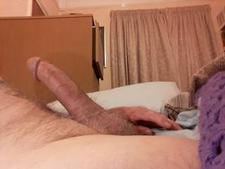 Just caught this big erection just after good wank