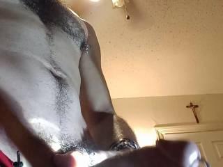 Hard pierced cock