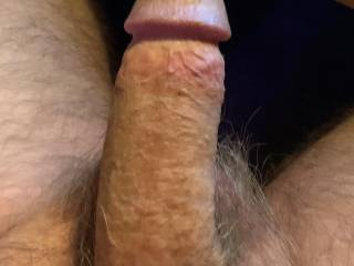All that is missing is a womans warm wet mouth or pussy
