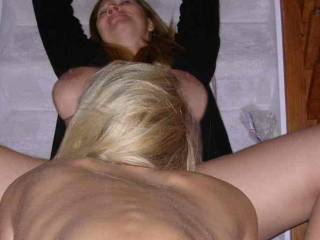 Another shot of me eating some of the sweetest pussy I have ever been with. This was our first meeting with another ZOIG member. What a wonderful experience.