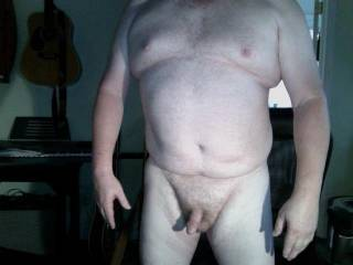 I am what I am.  Wish my cock was fat and my belly was skinny,  But it's not!