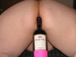 my favorite kinda wine...my favorite position.... would luv to take a nice sip of the wine while I slip my cock in there