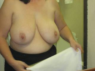 Love too play with beautiful big tits before cumming over them.