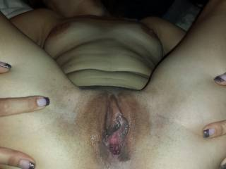 Mmm don't you look tasty .. would love to slide my cock in you and finish you off by licking you all up.