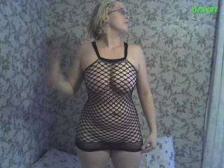 me in my new fishnet dress