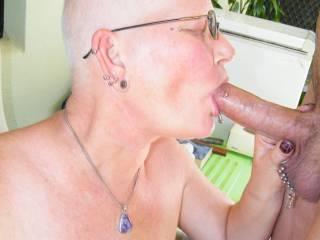 sucking hubbys beautiful cock