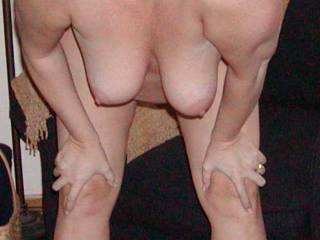 Now, just imagine me behind you with a hand full of hair and your wet pussy full of my bbc pumping in and out, making your tits swing back and forth with every thrust.