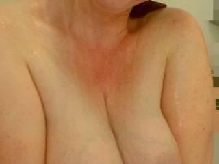 Big wet milk filled lactating breasts for your enjoyment!