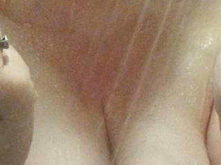 Such a big target for someone to drop a load of cum on... who\'d like to titty fuck these?