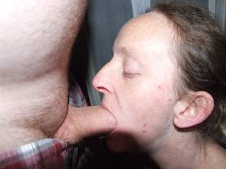 Joanne sucking my cock for me
