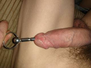 Sounding my cock, hope you like the pictures.