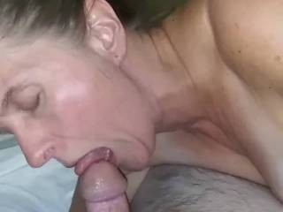 Sucking my husband's cock after business trip
